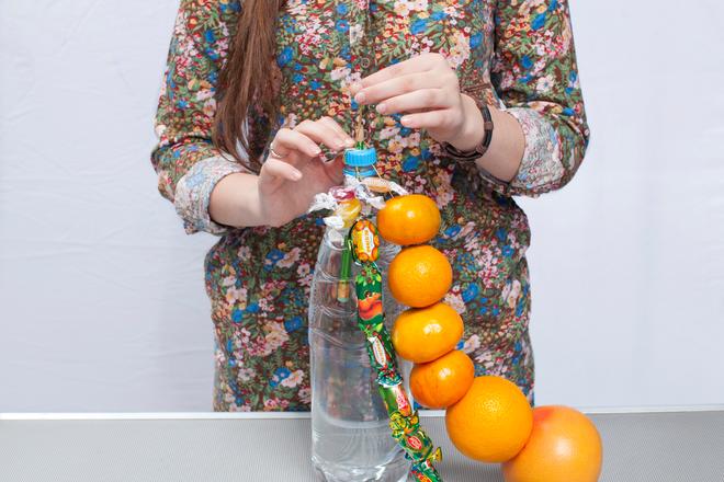 christmas craft for kids diy citrus tree table centerpiece