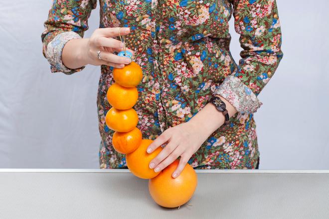 citrus garlands christmas centerpiece diy table decoration