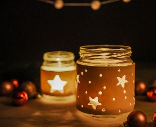diy christmas jar crafts fimo coat glowing dark