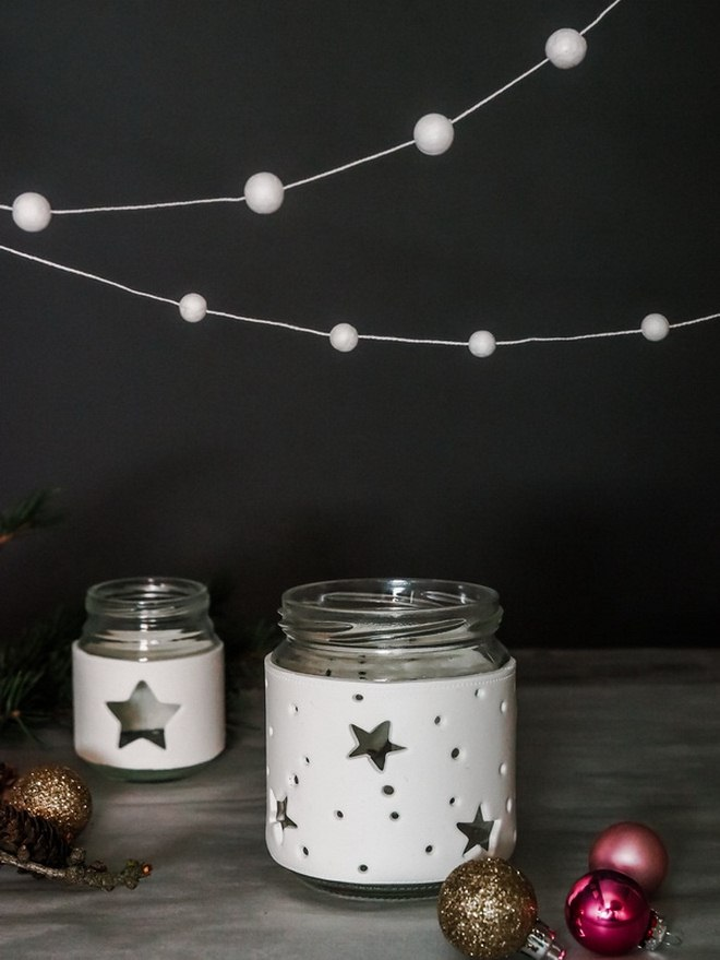 diy-christmas-jar-crafts-white-fimo-clay-sleeve