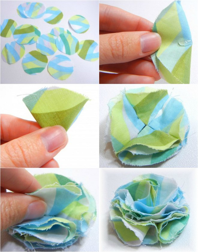 how to make stiffened fabric flowers