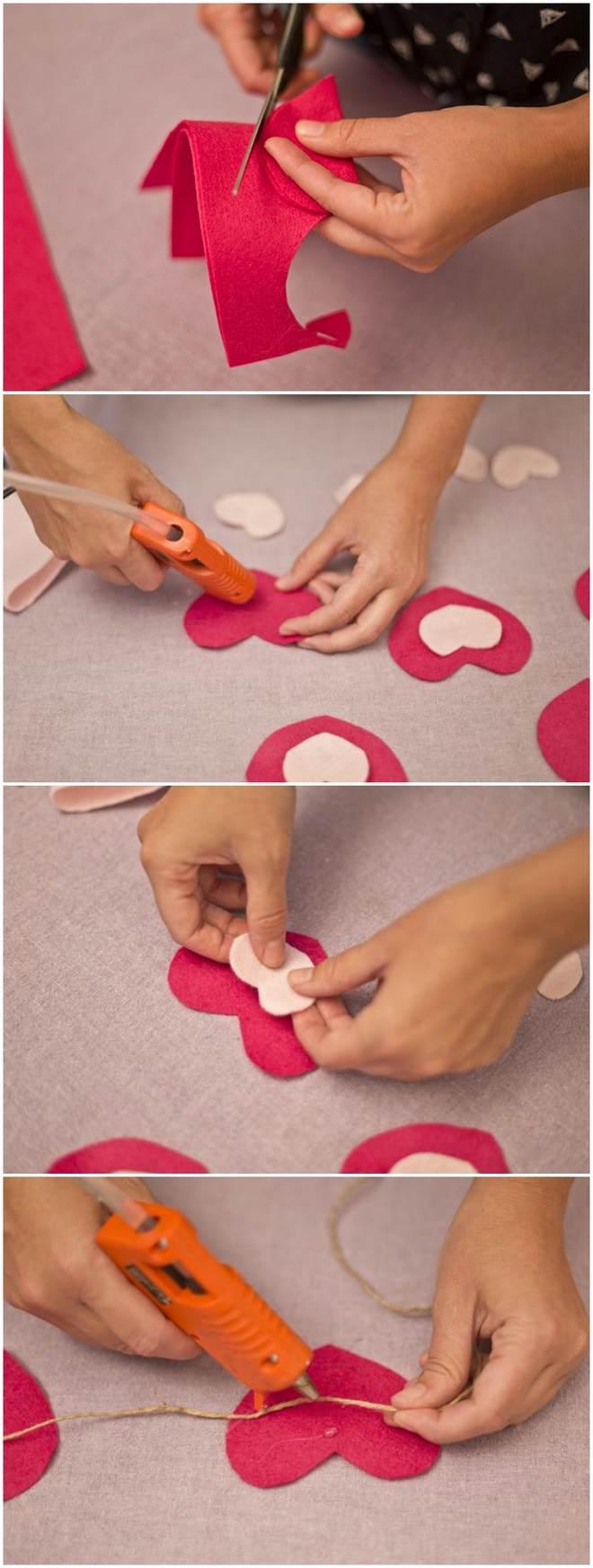 diy-valentines-crafts-garland-banner-heart-felt-fabric