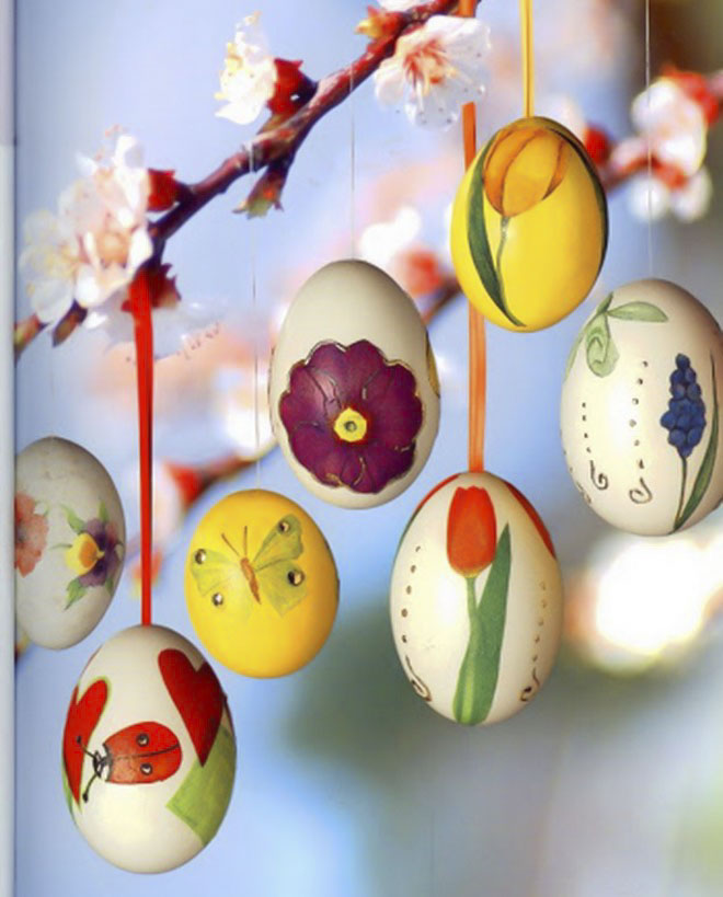 Easter-egg-craft-ideas-hanging-ornaments-easter-tree