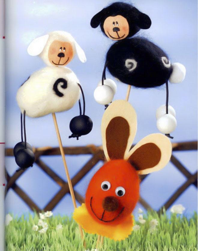 Easter-egg-craft-ideas-kids-puppets-bunny-wool-felt