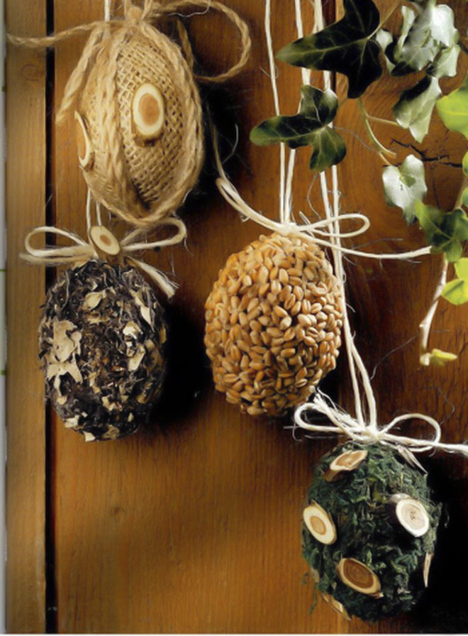 Easter-egg-decorating-seeds-herbs-moss-wrapped-burlap