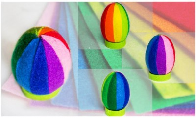 diy-easter-craft-ideas-styrofoam-egg-decorated-colorful-felt-pieces