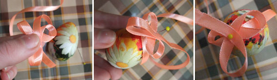 diy-easter-craft-ideas-styrofoam-egg-decoupage-ribbon-pin-hanging-ornament