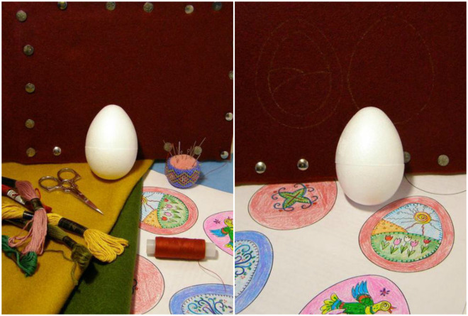 diy-easter-craft-ideas-styrofoam-egg-embroidery-threads-needles
