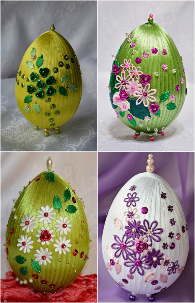 diy easter craft ideas styrofoam egg faberge look