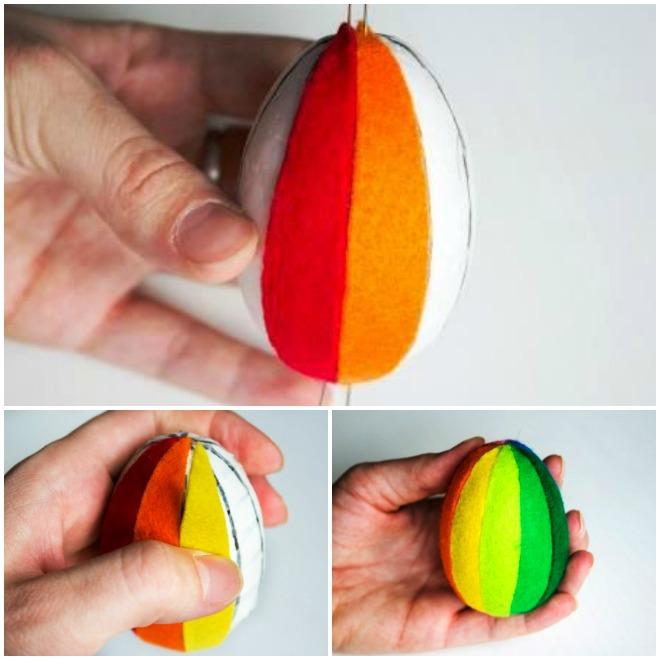 diy-easter-craft-ideas-styrofoam-egg-glue-felt-pieces-side