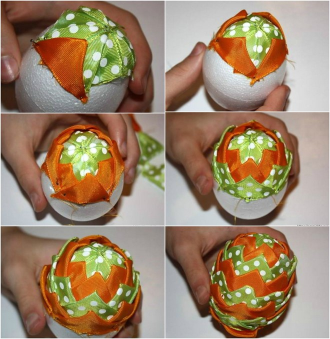 diy-easter-craft-ideas-styrofoam-egg-tutorial-artichoke-pine-cone-effect-ribbons