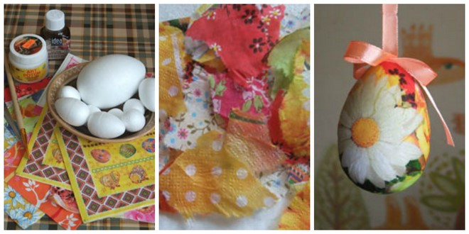 diy-easter-craft-ideas-styrofoam-eggs-hanging-ornaments-napkin-decoupage