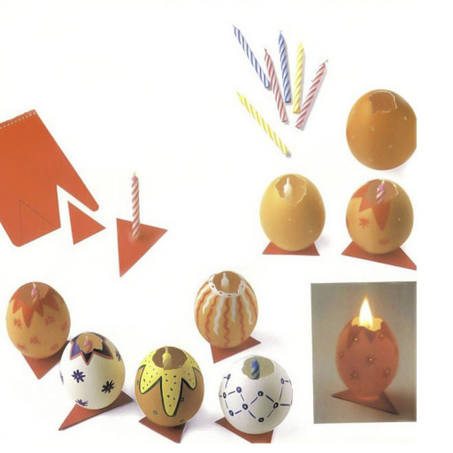 easter egg crafts candle-holder-birthday-candles-blown-out-egg