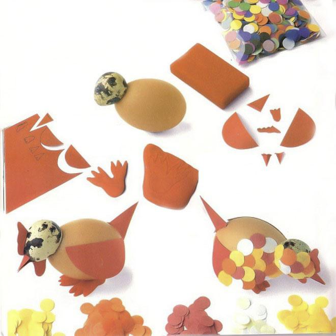 easter-egg-crafts-hen-quail-egg-head-paper-confetti-playdough