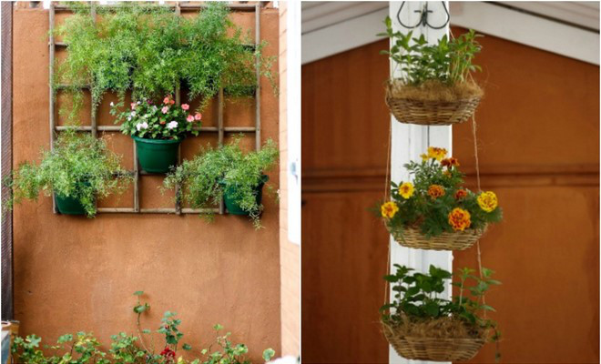 2 space saving diy vertical garden ideas for small balcony for Balcony vertical garden