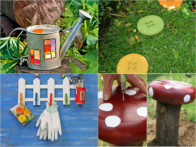 Diy garden decor ideas 6 projects for yard and patio for Homemade garden decor crafts