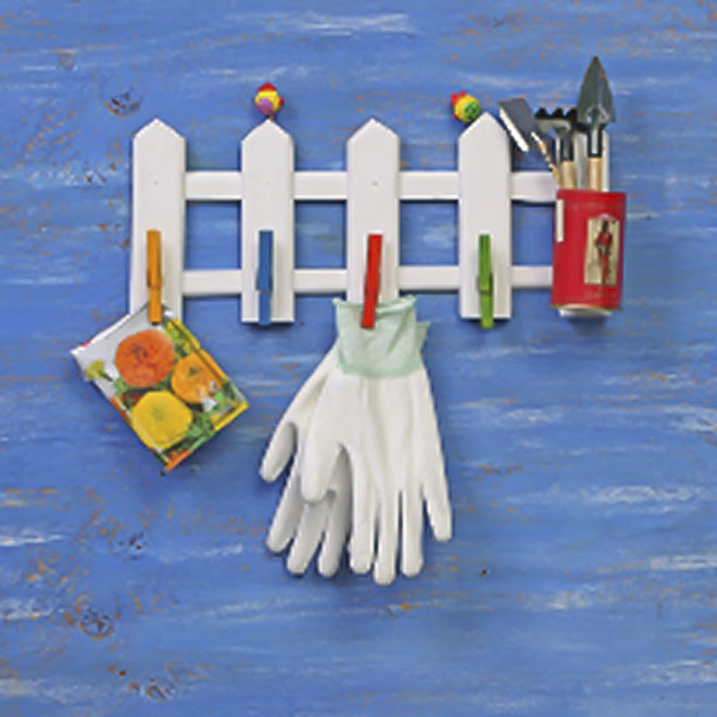 cheap handmade wooden fence clothespins hanger