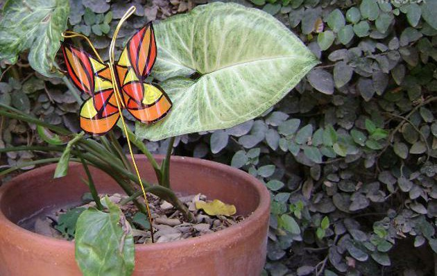 diy garden decor ideas handmade plastic bottle butterfly yard pot ornament