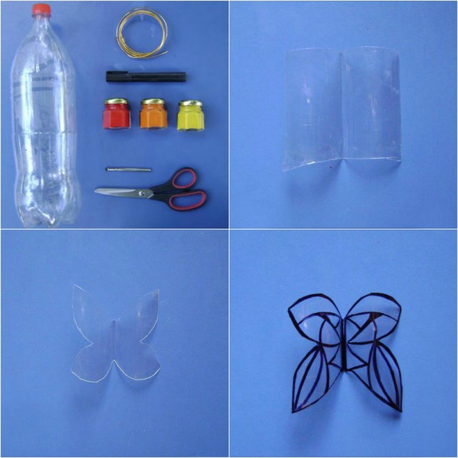 diy plastic bottle butterfly garden decoration step by step tutorial