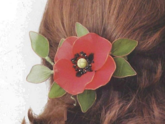 flower-craft-ideas-adults-cute-poppy-spring-summer-hair-accessory