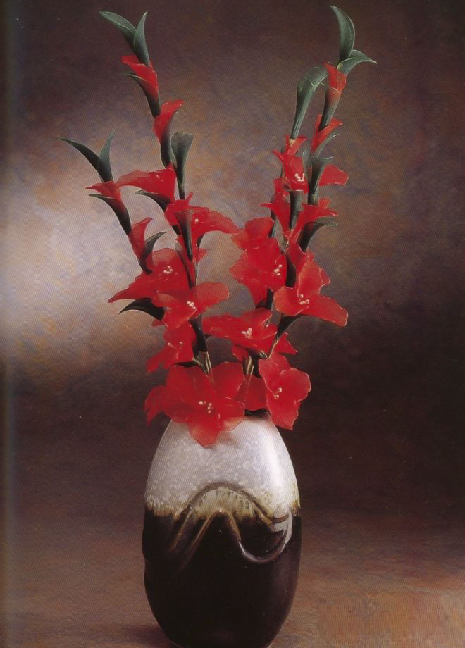 flower-craft-ideas-gladiolus-red-artificial-flowers