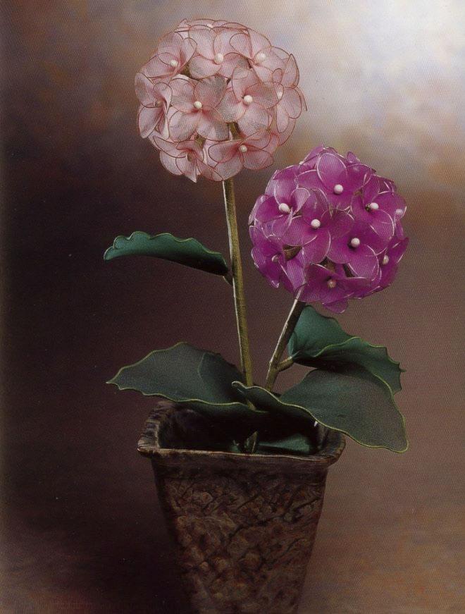 flower-craft-ideas-making-hydrangeas-artificial-fake-flower-pot