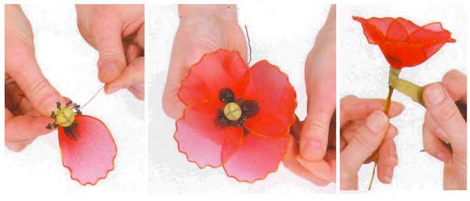 flower-craft-ideas-making-instructions-red-poppy-nylon-tights-wire