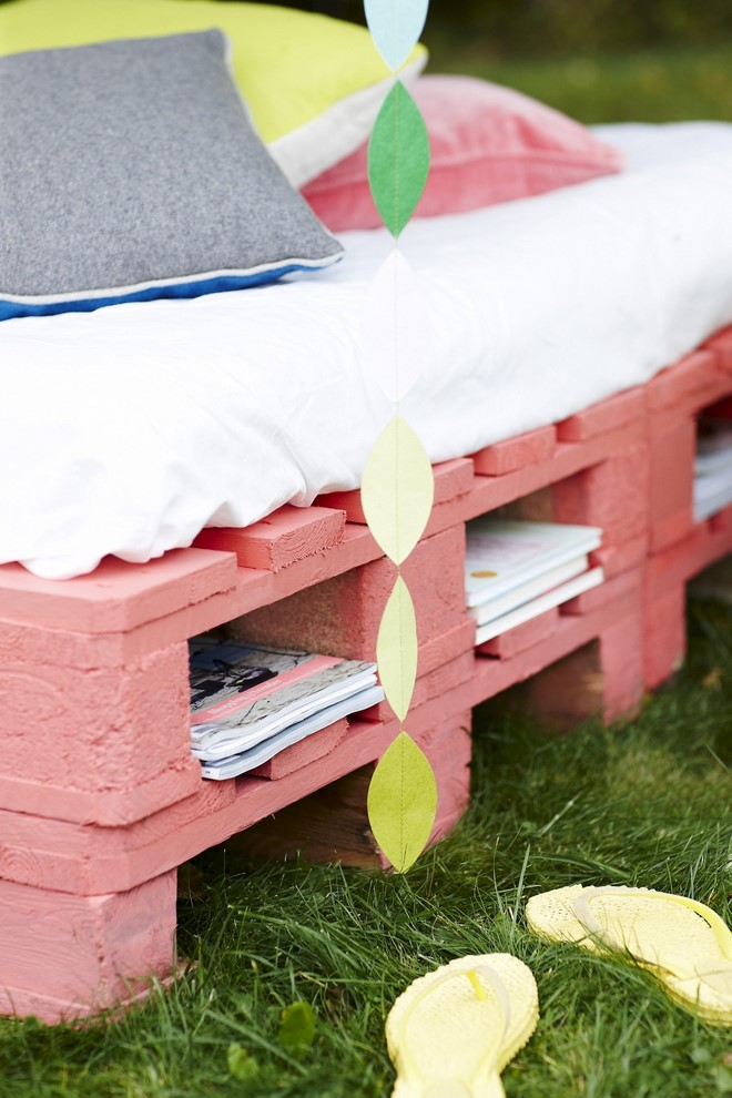 outdoor wood pallet furniture diy summer garden couch