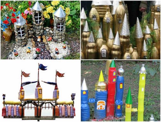 plastic-bottles-crafts-ideas-castle-backyard-kids
