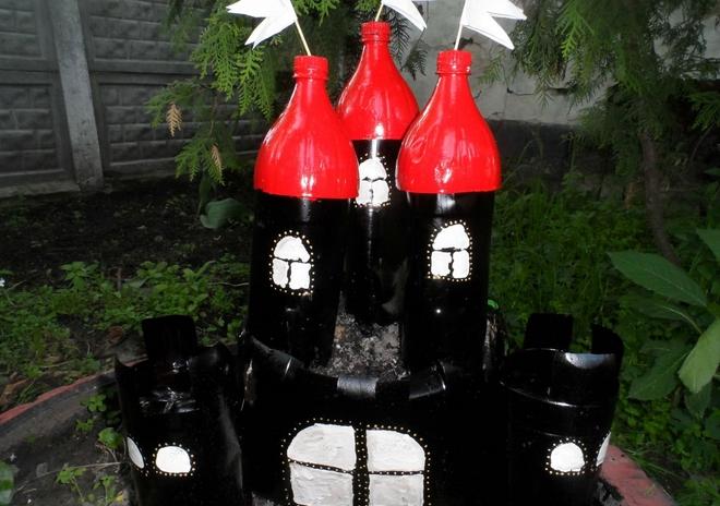 plastic-bottles-crafts-ideas-castle-kids-tutorial-playground