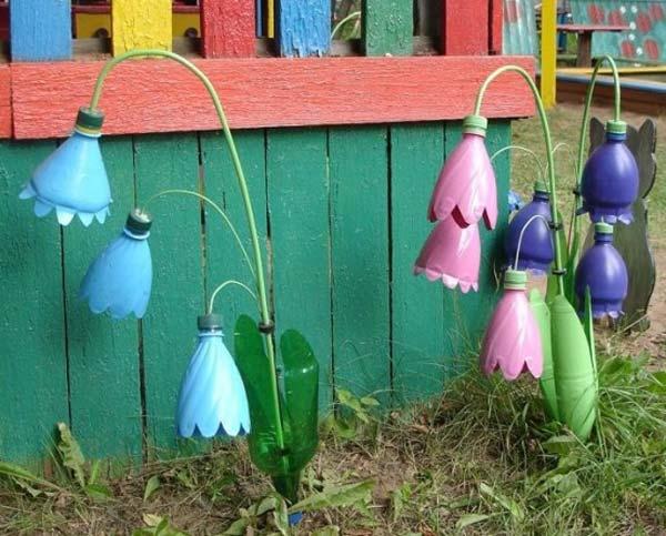 plastic-bottles-crafts-ideas-flowers-wire-stem
