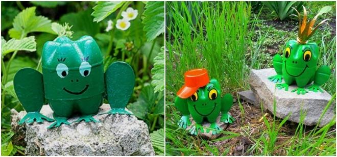 plastic-bottles-crafts-ideas-frogs-garden-backyard-decorations