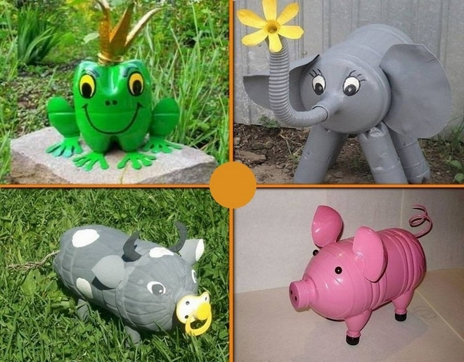 plastic-bottles-crafts-ideas-garden-decorations-animals-farm