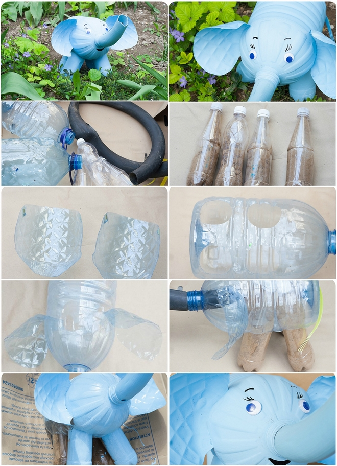 plastic-bottles-crafts-ideas-how-make-elephant-figure-tutorial