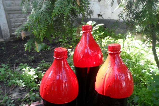 plastic-bottles-crafts-ideas-tutorial-castle-red-paint