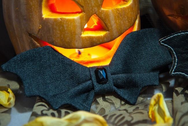 diy halloween costumes bat bow tie black ruby stone pumpkin lantern decoration