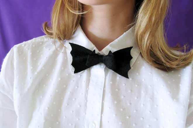 diy halloween costumes gothic bat bow tie style girl fun party accessory