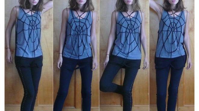 diy halloween costumes kids spider cobweb t-shirt style