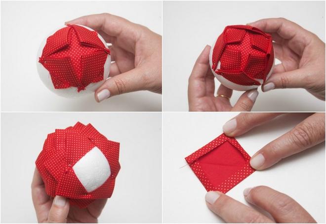 Homemade Christmas Tree Ornaments 4 Ideas With Styrofoam Balls