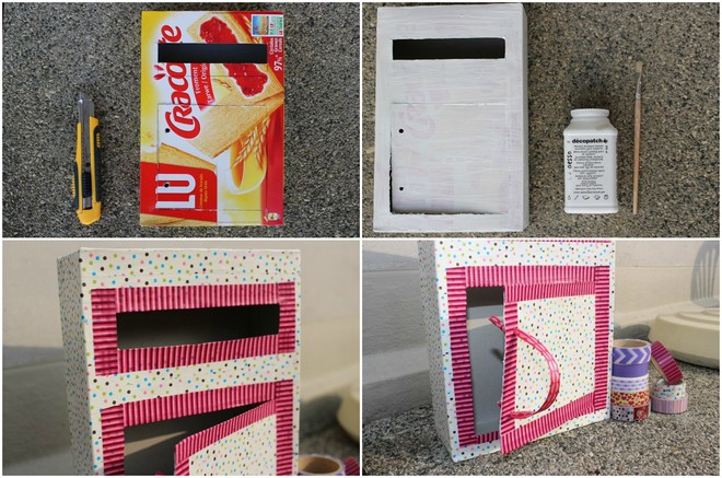 craft ideas for valentines day boxes cereal box washi tape