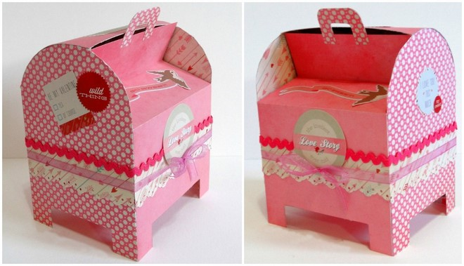 pink cardboard mailbox cute easy valentines day boxes