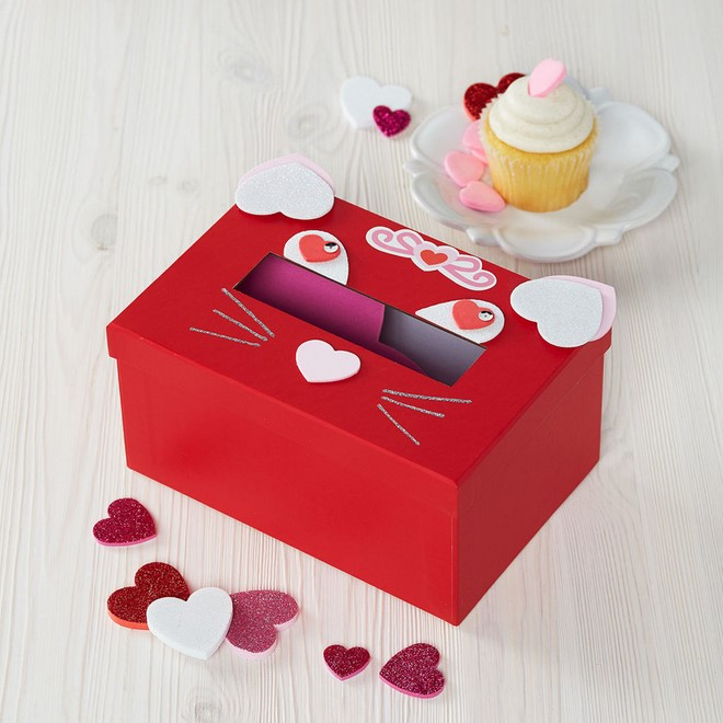 valentines day gift boxes cat style red hearts muffin decoration