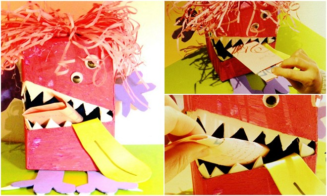 monster mailbox diy valentines day idea for him love message