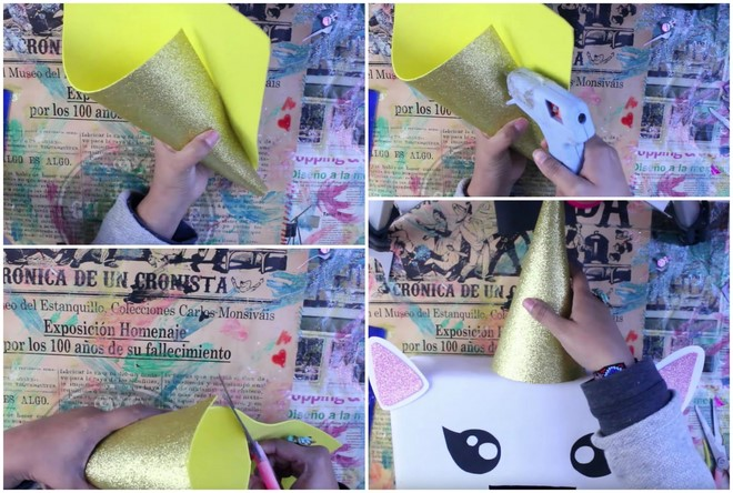 unicorn valentines day box idea diy school idea