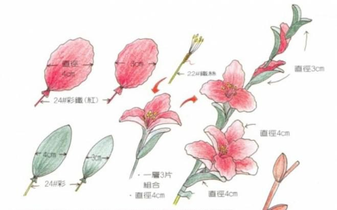 diy-flower-crafts-gladiolus-peach-blossoms