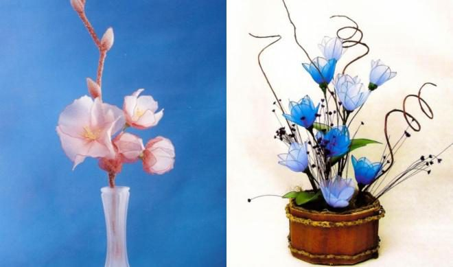 11 Flower Craft Ideas For Adults Making Nylon Tights Flowers