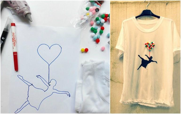 diy-t-shirt-ideas-crafts-decoration-pompoms