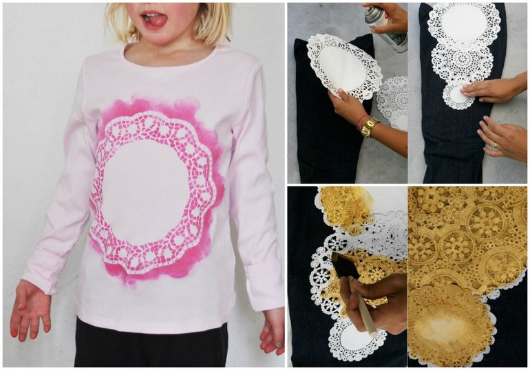diy-t-shirt-ideas-lace-doilies-stamping-paint