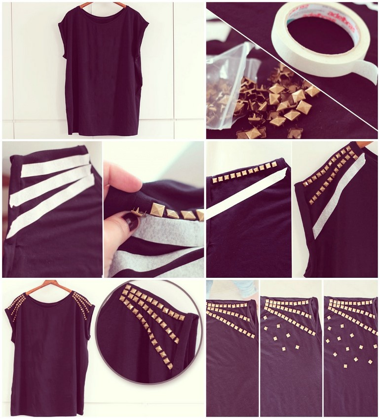 diy-t-shirt-ideas-studs-shoulders