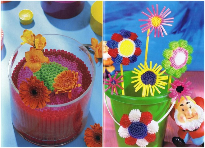 drinking-straws-crafts-decorations-flowers-ideas-plastic